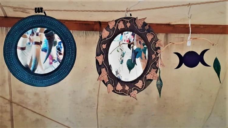 miroir en cuir de Cuir et Minéraux